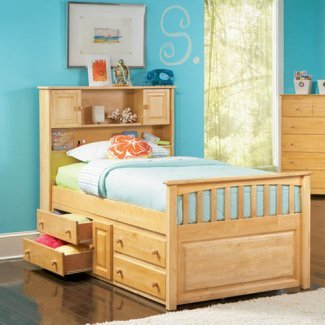 Twin Beds With Trundle 121430 front