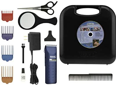 Wahl 9590-210 Pro-series Complete Pet Clipper Kit - Corded or Cordless Operation, Blue