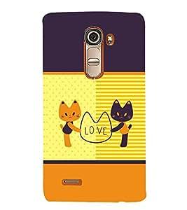 Fuson Premium Kitty Love Printed Hard Plastic Back Case Cover for LG G4 Mini
