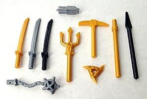 LEGO Ninjago: Gold Weapon Battle Pack (10 Weapons): Amazon ...