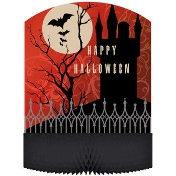 Creative Converting Halloween Frightful Night Tissue Honeycomb Centerpiece - 1