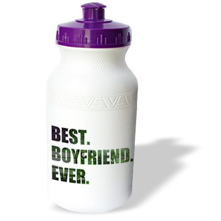 Wb_179714_1 Inspirationzstore Typography - Best Boyfriend Ever - Cut Out Of Green Computer Microchip Graphic - Water Bottles