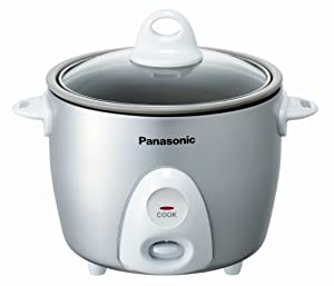 Panasonic SR-G06FG Automatic 3.3 Cup (Uncooked) Rice Cooker (Silver) by Panasonic