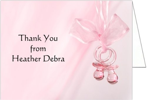 Pink Binkies Baby Thank You Cards - Set Of 20 front-1063379