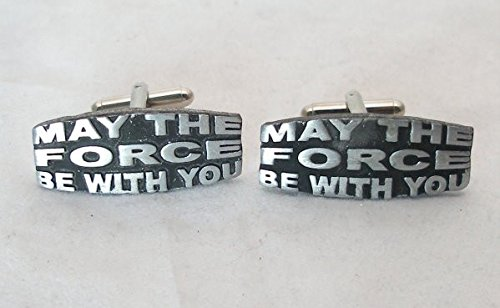 Solid Pewter May The Force Be With You Cufflinks With Gift Box