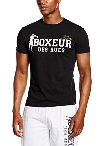 Boxeur Des Rues Sèrie Exclusive T-Shirt Logo Bandiera Francese, Black, L