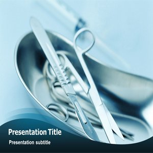 Surgery Instruments Powerpoint Template - Surgery Instruments PPT Templates