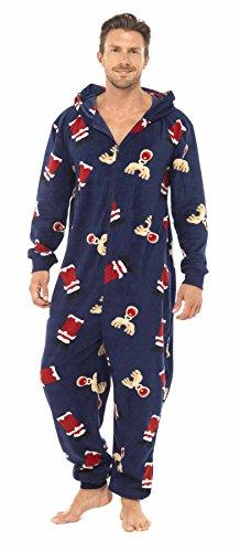 Brand-New-Mens-Christmas-Xmas-Hooded-Onesie-Sleepsuit-Pyjamas