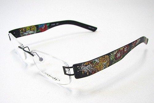 Eyeglass Frame Tattoo : ED HARDY EHL806 Eyeglasses Vintage Tattoo EHL 806 Black ...