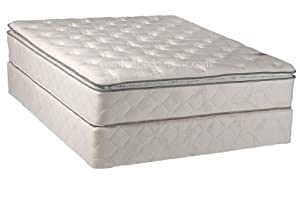 Comfort Bedding Pillowtop Plush Single Sided 10-Inch Innerspring Mattress Set with Box, Twin