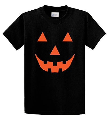 [Comical Shirt Men's Halloween Costume Pumpkin Face Jack O Lantern Shirt Black 5XL] (Comical Halloween Costumes)