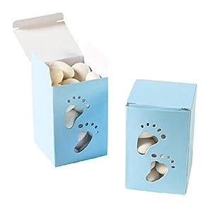 Baby Boy Footprint Treat Boxes (2 dz)