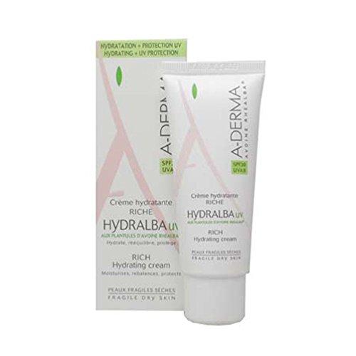 Aderma Hydralba Crema Idratante UV Ricca Viso Spf 20 40 ml