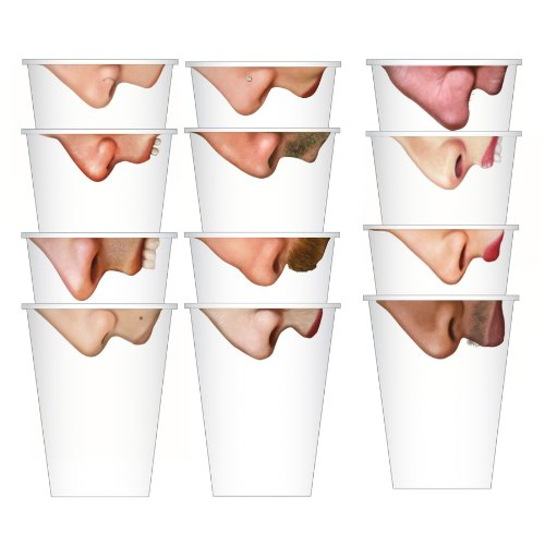Fred 12-Ounce Pick Your Nose Paper Cups, Pack of 24