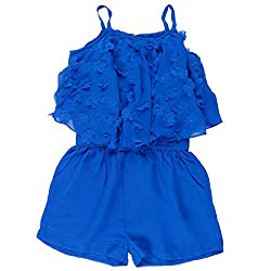 Leo n Babes Girls' Jumpsuit (30005 R.Blue E_R.Blue_4 - 5 Years)