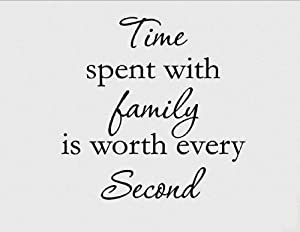 Vinyl Say Black-15x15-0880timewith Time Spent with Family Wall Decal