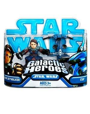 Star Wars 2010 Galactic Heroes Mini Figure 2Pack Anakin Skywalker STAP