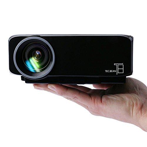 TEC.BEAN 小型LEDプロジェクター GP9S ブラック 120ルーメン 1080フルHD HDMI/VGA/AV/USB/SD対応 リモコン付き