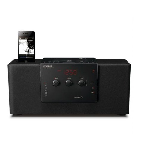 Yamaha TSX140 USB Port DAB/FM 30W Desktop Micro Hi-Fi System for iPod/iPhone Dock - Black