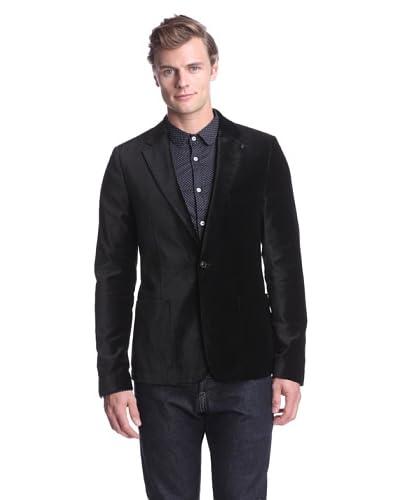 J.C. Rags Men's Velvet Blazer  [Black]