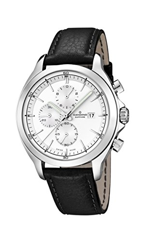 Candino UC4516/1 - Reloj para hombres, correa de cuero color negro