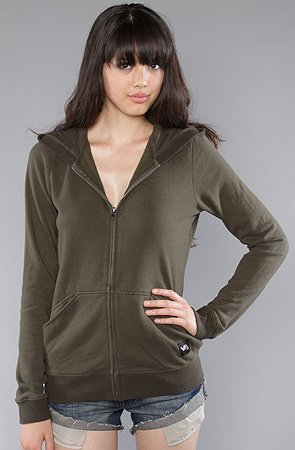 RVCA The RVCA Fleece Colors Hoody in Forest Night hood ,Sweatshirts for Women