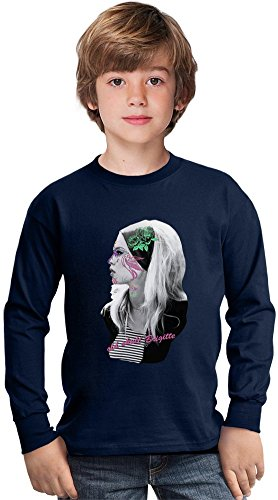Brigitte Bardot Floral Design Amazing Kids Long Sleeved Shirt by True Fans Apparel - 100% Cotton- Ideal For Active Boys-Casual Wear - Perfect For A Present Unisex 5-6 years