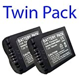 Premium Quality -Twin Pack- 2x Rechargeable Panasonic CGA-S006E, CGA-S006, CGR-S006, CGA-S006E, CGA-S006A, CGA-S006A/1B, CGA-S006E/1B, CGR-S006A, CGR-S006A/1B, CGR-S006E, CGR-S006E/1B DMW-BMA7 Series Camera Battery