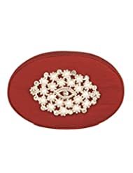 Voylla Voylla Gorgeous Maroon Clutch With Sparkling Stones And Pearls