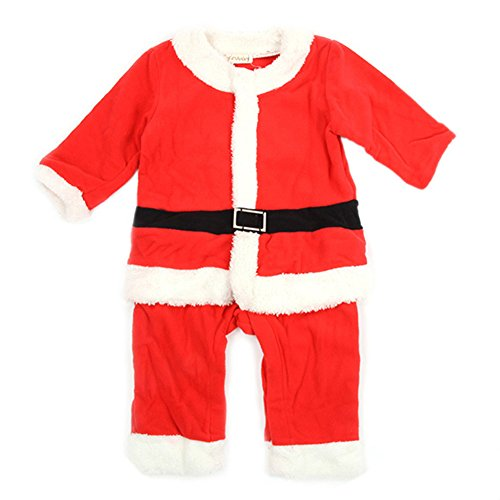Weixinbuy Baby Kid Boy Christmas Santas Suits Jumpsuits + Hat Sets Outfit
