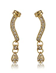 Estelle Gold-Plated Dangle & Drop Earring For Women Gold - ER
