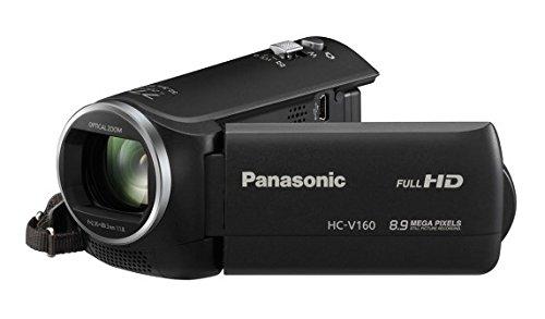 """Panasonic HC-V160EC-K - Caméscope Full HD 1080p (2,7 """", zoom optique 38x, un stabilisateur électrique), noir"""