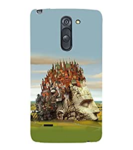 printtech City On Head Contemporary Design Back Case Cover for LG G3 Stylus / LG G3 Stylus D690N / LG G3 Stylus D690