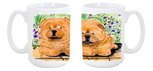 Caroline'S Treasures Chow Chow Dishwasher Safe Microwavable Ceramic Coffee Mug 15 Ounce Ss8123Cm15 Made Or Printed In The Usa