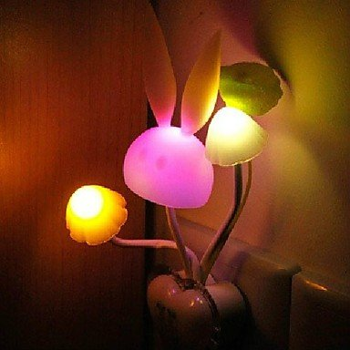 Jjj-X0018 Mushrooms Colorful Bunny Light Control Sensor Led Night Light Bedside Lamp Plugged