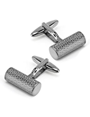 Gunmetal Barrel Cufflinks