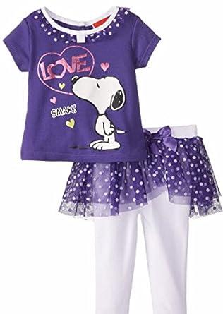 Amazon Peanuts Snoopy Baby Girls 2 Piece Shirt