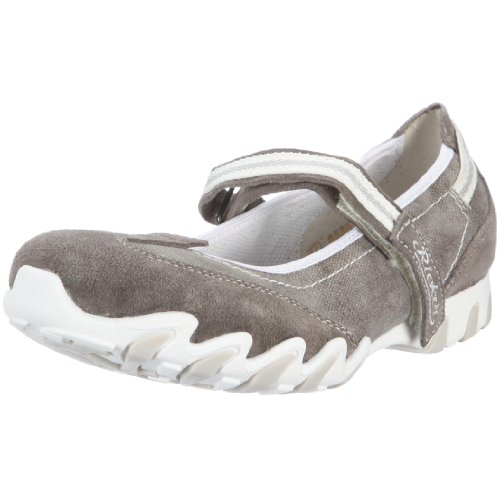 Rieker Estelle Girl's Ballerina Grey/dust/smoke UK 5 Junior