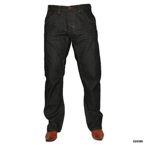 Mens C3NTR4L Indigo Straight Leg Casual Jeans Size 32 Regular