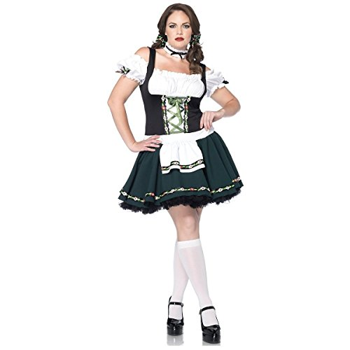 GSG Bavarian Babe Costume Adult Plus Size German Beer Girl Oktoberfes Dress