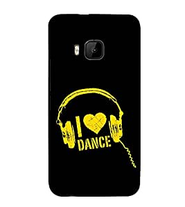 I Love Dance 3D Hard Polycarbonate Designer Back Case Cover for HTC One M9 :: HTC M9 :: HTC One Hima