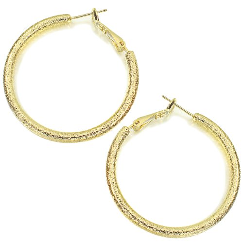 Round 18K Gold Plated Hoop Earrings- 3mm