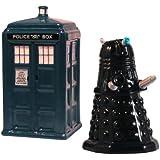 TARDIS v. Dalek Salt and Pepper Shaker