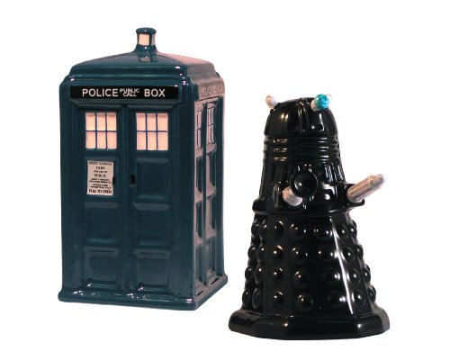 Doctor Who Tardis vs Dalek Salt & Pepper Shaker