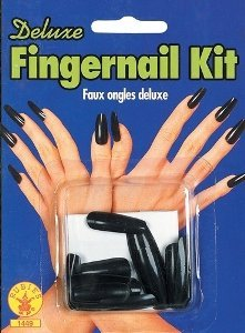 Rubie's Costume Co Dlx Fingernail Kit-Blk Costume