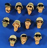 #2641 US Head Set Iraq Afghanistan 11 pieces 1:35 Scale Resin Hobby Model Kit By Verlinden Productions