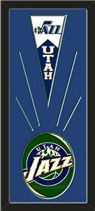 Utah Jazz Wool Felt Mini Pennant & Utah Jazz Team Logo Photo - Framed With Team... by Art and More, Davenport, IA