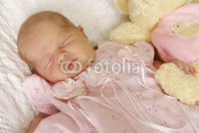 """Wallmonkeys Peel and Stick Wall Decals - Newborn Baby Girl - 24""""W x 16""""H Removable Graphic"""