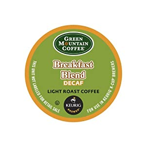 Green Mountain Coffee Decaf Breakfast Blend, K-Cup for Keurig Brewers by Green Mountain Coffee