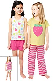 3 Pack Pure Cotton Assorted Pyjamas